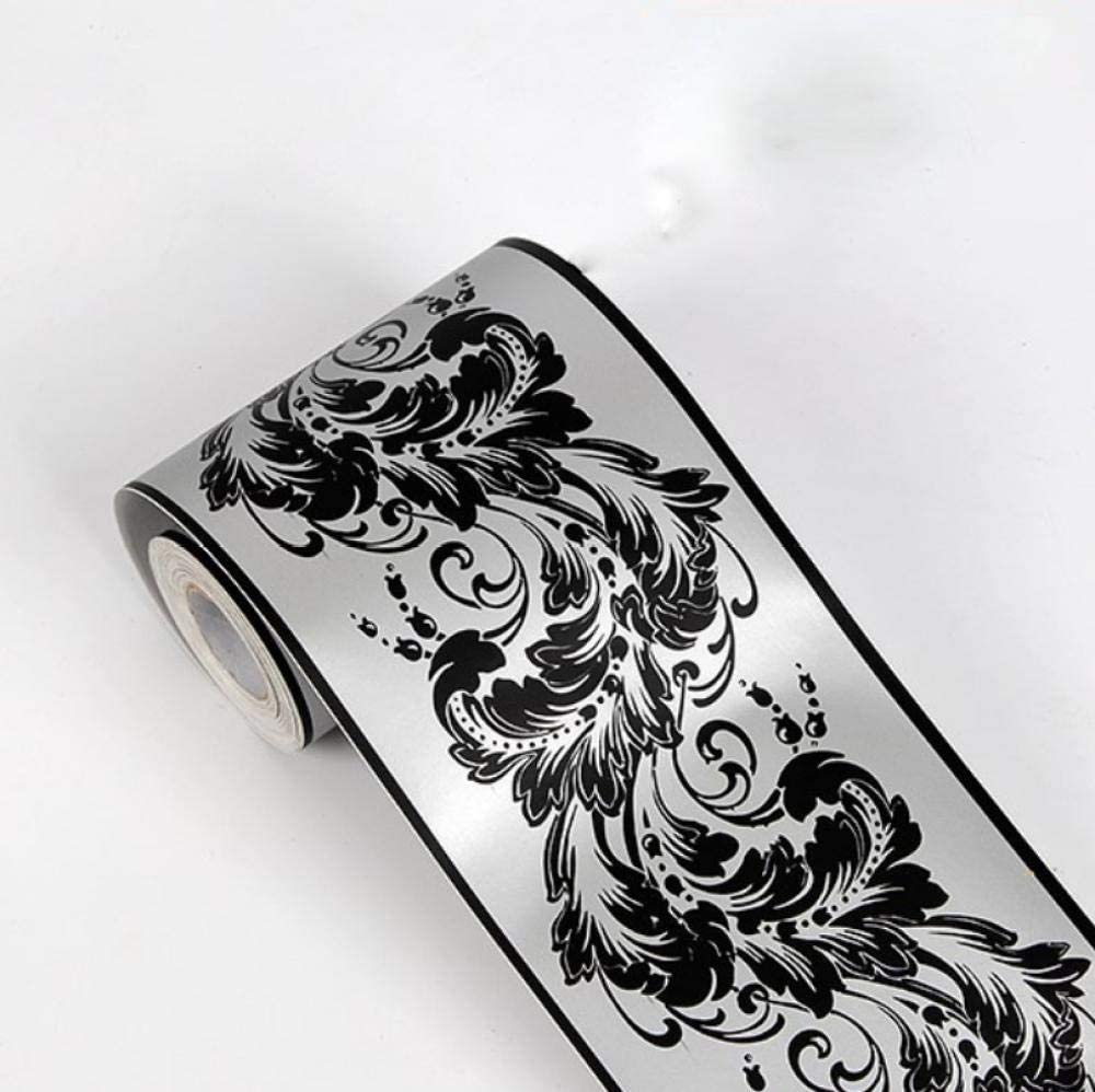 black3D Moisture-Proof Wallpaper Frame Peeling Off and pasting Scroll Wall Frame Sticker Home Decoration 4.1×393.7in