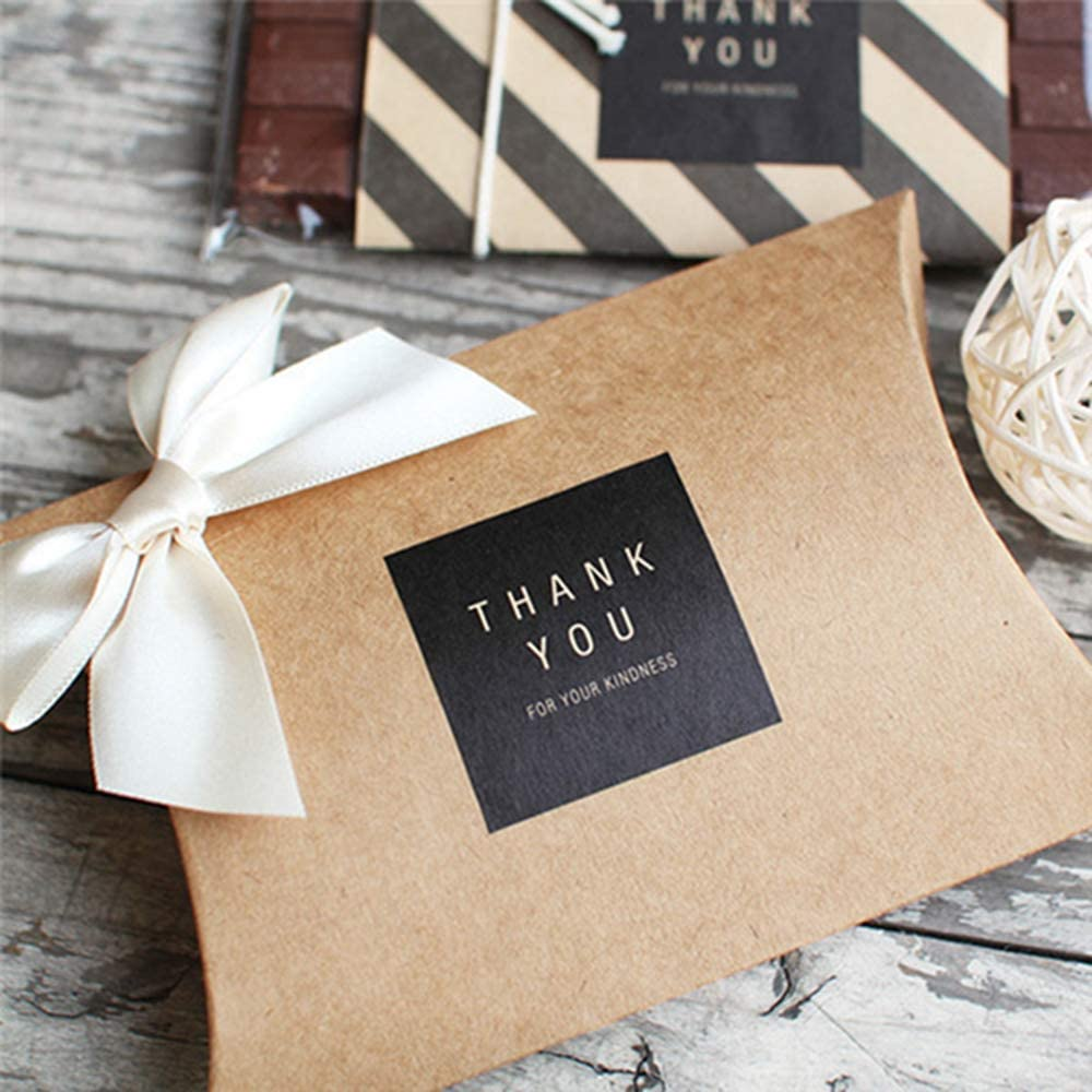 Thank You Stickers - 300 Unique Designs Self-Adhesive Labels, Use to Packaging Gift Bags, Boxes and Envelope Seals, Kraft Paper Stickers for Boutiques & Small Business