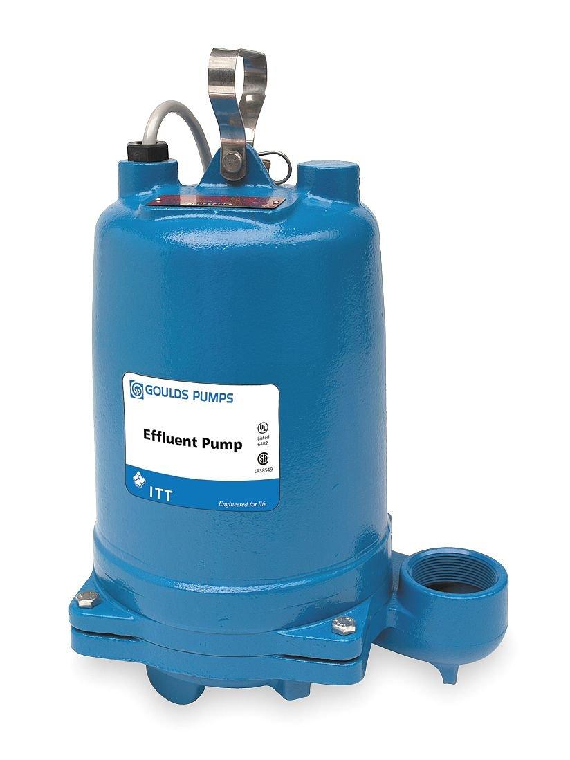Submersible Effluent Pump, 1/2hp, 14.5A