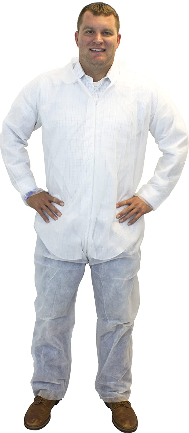 Safety Zone DCWH-3X White Polypropylene Disposable Coverall, 3X-Large (Box of 25)