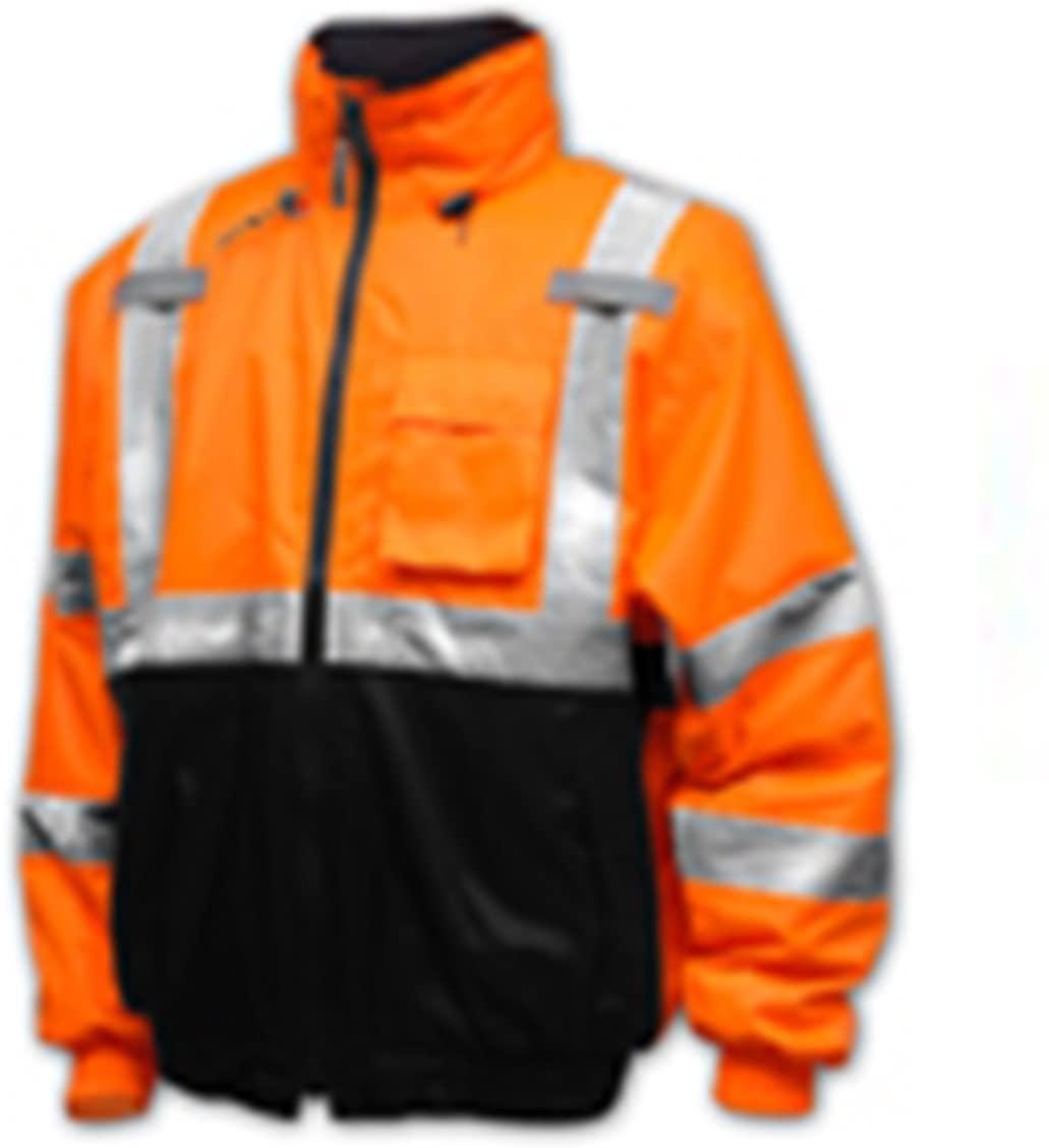 Tingley Rubber J26119 CL3 Bomber II 217 Denier Polyester Jacket, Orange