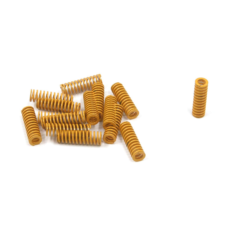 MTMTOOL 3D Printer Light Load Die Spring 15-Pack Spiral Compression Spring Yellow Mould Die Spring,0.31