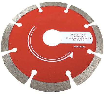 115mm X 22.2mm Concrete & Stone Cutting Diamond Blade - Roof Tiles, Slabs,