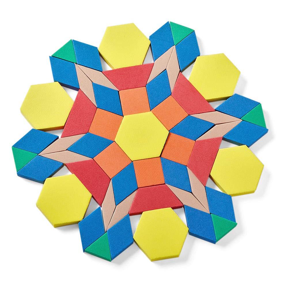 hand2mind Manipulate Foam Pattern Blocks, Set of 250