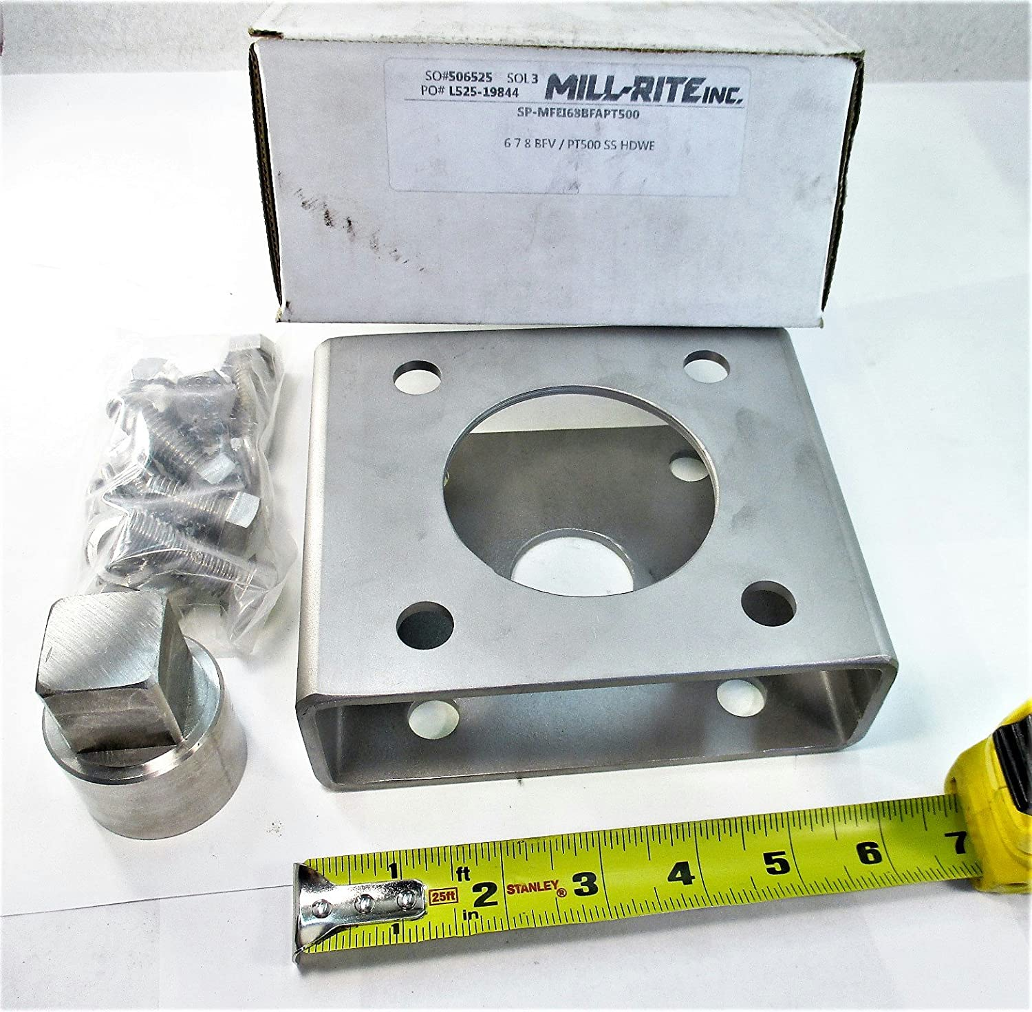 Mill-Rite Valve Positioner Mounting Kit Stainless Steel New SP-MFEI68BFAPT500