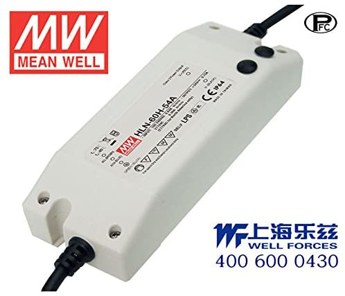 Meanwell HLN-60H-54B Power Supply - 60W 54V 1.15A - IP64 - Dimmable