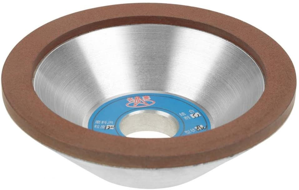 120 Grit 100mm Concave Cup Shape Diamond Grinding Wheel Cup Sanding Disc Wheel Grinder Accessory for Carbide Metal