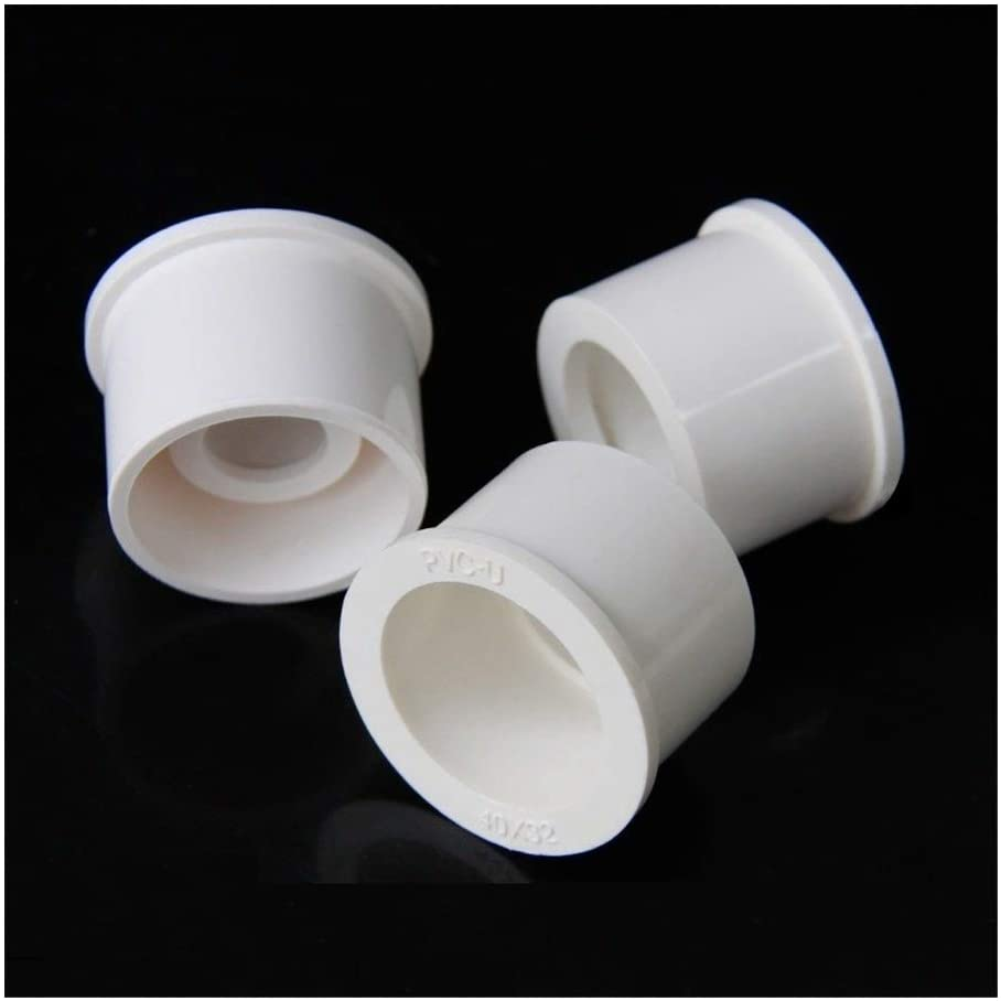 3pcs 25~50mm To 20~40mm PVC Pipe Reducing Connector Bushing Joint Aquarium Tank Fittings Garden Irrigation Water Pipe Connectors (Color : 50 25mm, Diameter : Gray)