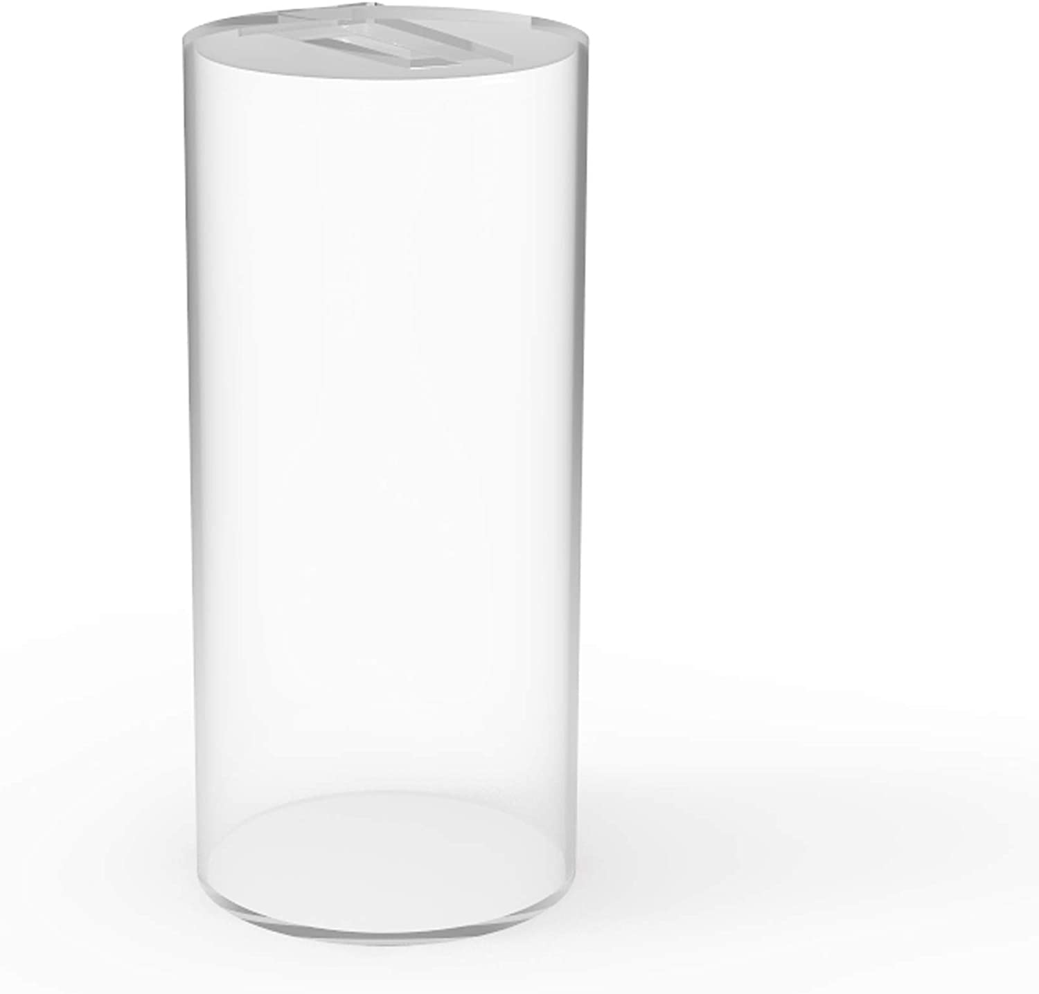 FixtureDisplays Donation Can Fundraising Jar Clear Acrylic Plexiglass 15703D