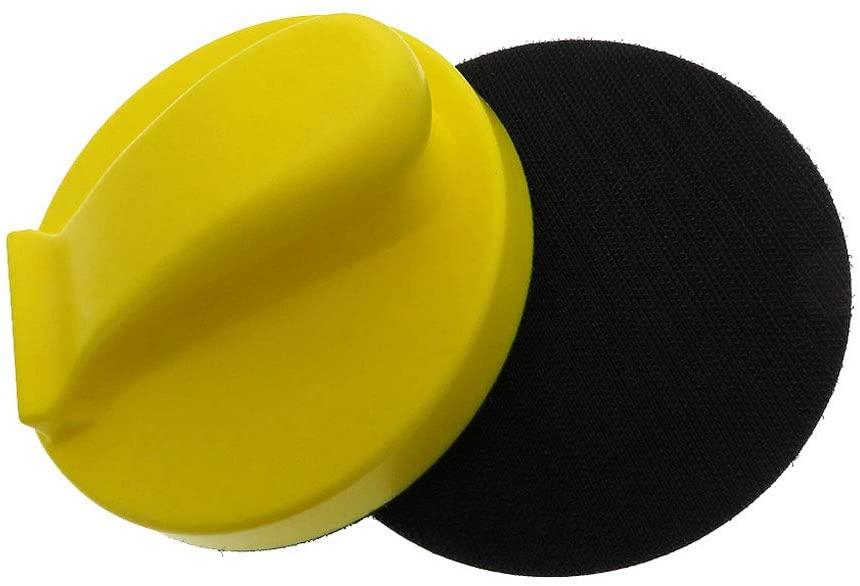 YOYOHOT Hand Sanding Block Disc for Hook and Loop Sandpaper Polishing Pad Plate Sander Polisher Grinding Tool