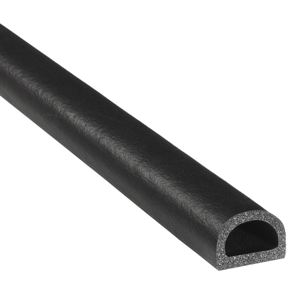 """Trim-Lok D-Shaped Rubber Seal – .562"""" Height.75"""" Width, 25' Length – EPDM Foam Seal with HT (General Acrylic) Pressure Sensitive Adhesive System, Door/Window Weather Seal for Cars, Trucks, RVs, Boats"""