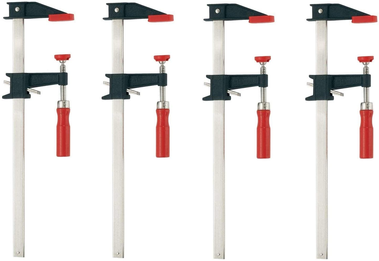 Bessey GSCC2.512 2.5-Inch x 12-Inch Economy Clutch Style Bar Clamp … (4)
