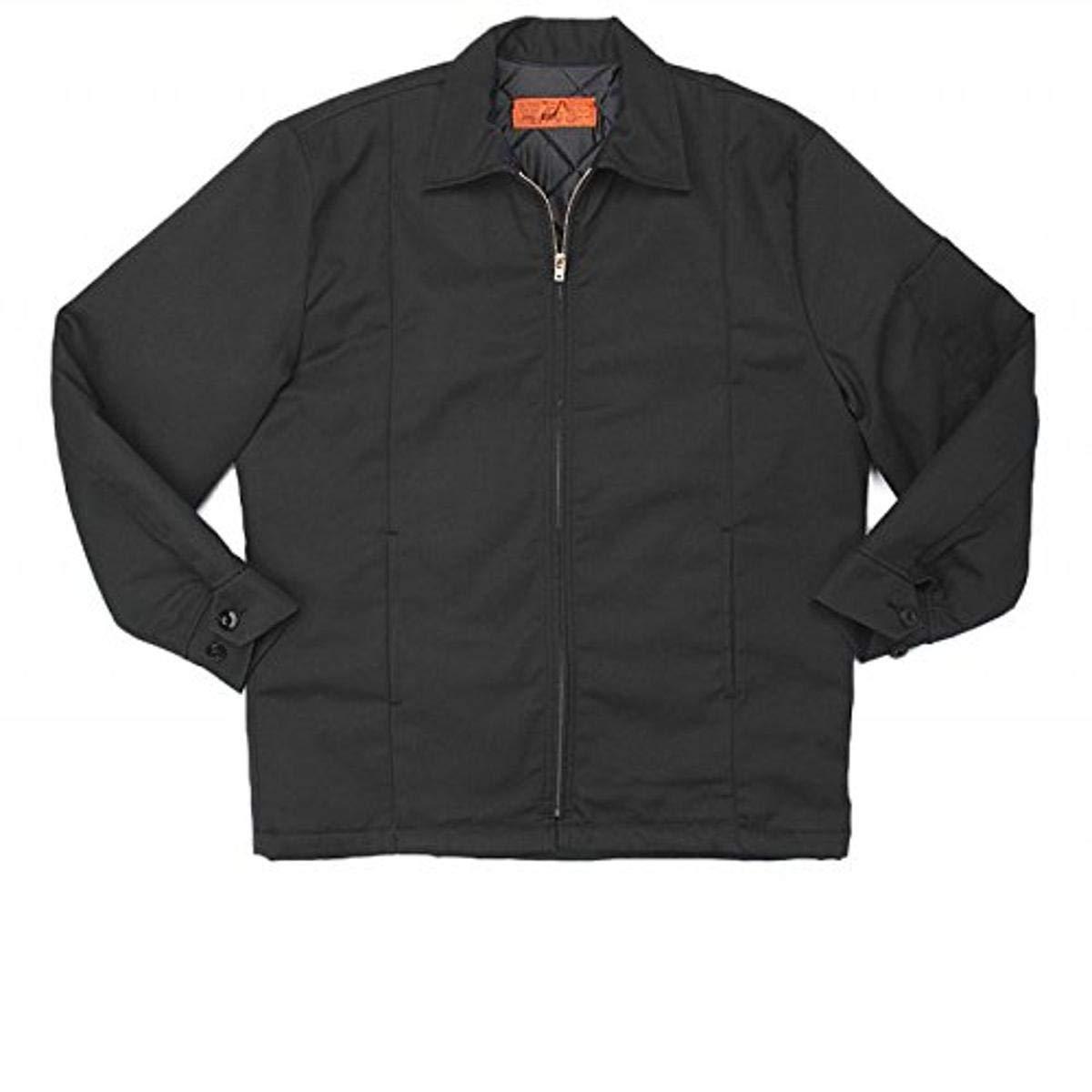 Pinnacle Textile JL14 7.5 OZ Twill, 65/35 Polyester/Cotton, Panel Jacket-X-Large-Black