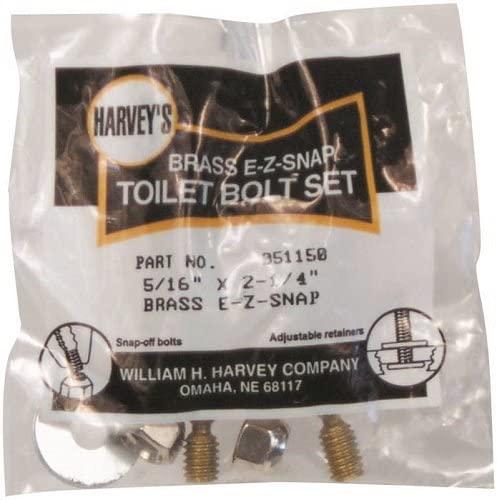 Harvey's 5/16X2-1/4 Toilet Bolt Set 051150