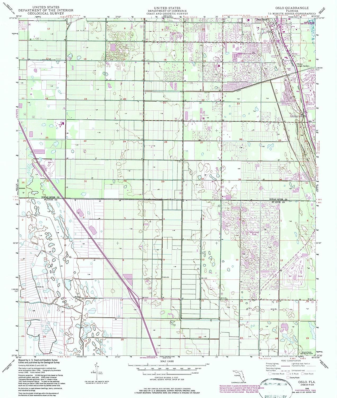 Map Print - Osceola, Florida (1949), 1:24000 Scale - 24