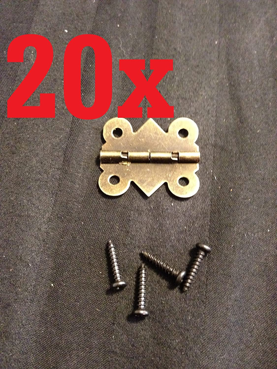 20x Butt Hinge Bronze Small Mini Doll House Antique M00812 Carved Wood Box B24