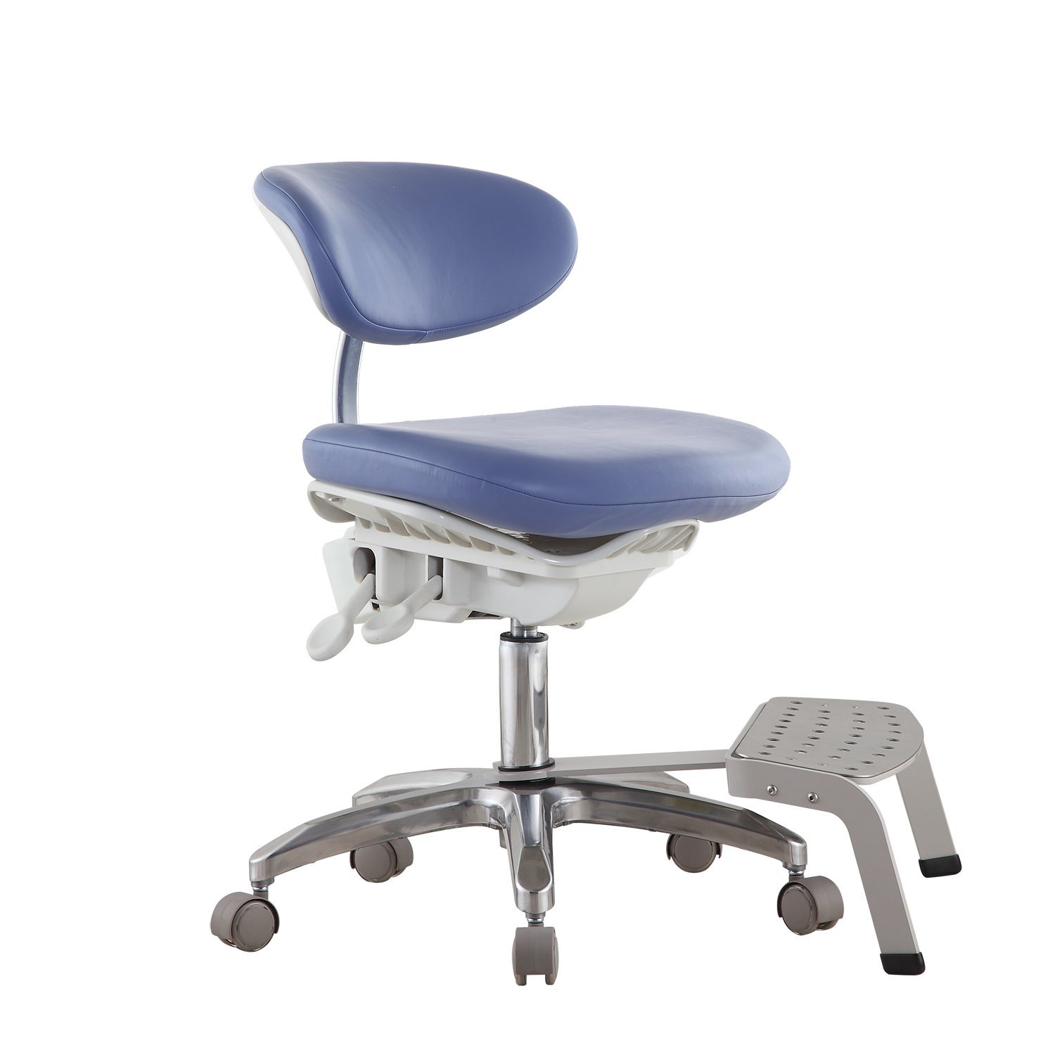 NSKI Dental Dynamic Chair DS-PB1 Dentist Stool PU Leather with Pedal Base Height Adjustable