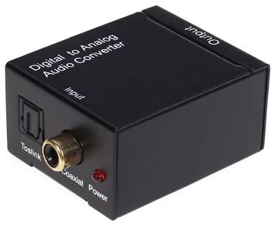 SHUHAN Electronics RCA Series Digital Optical Coax to Analog RCA Audio Converter(Black)