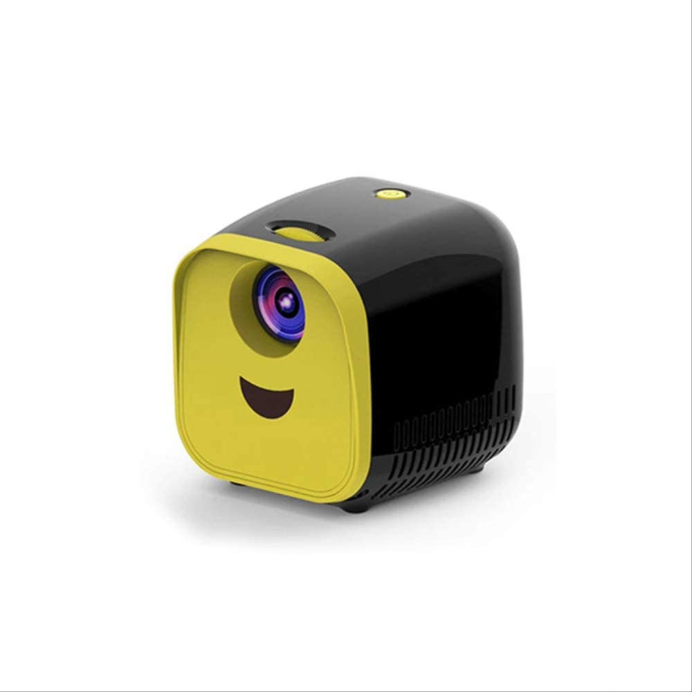 L1 Mini Projector WiFi USB Children Portable Projector 1000 Lumens Micro Video Projector 320x240p for Family Theater Black