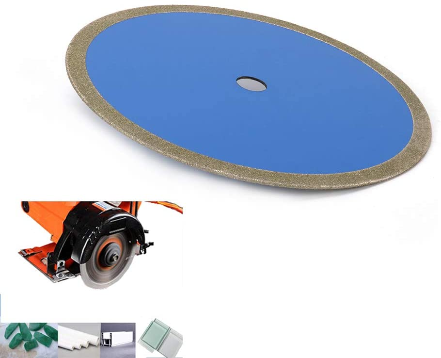 Join Ware 12 Inch 60# Continuous Rim Diamond Saw Blade Cut Glass, Glass Tile, Jade, PVC, Plastic Pipe - 1