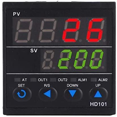 Digital temperature controller, HD101 Smart temperature control controller Thermostat Display PV/SV AC100-240V 0-1300 ° C