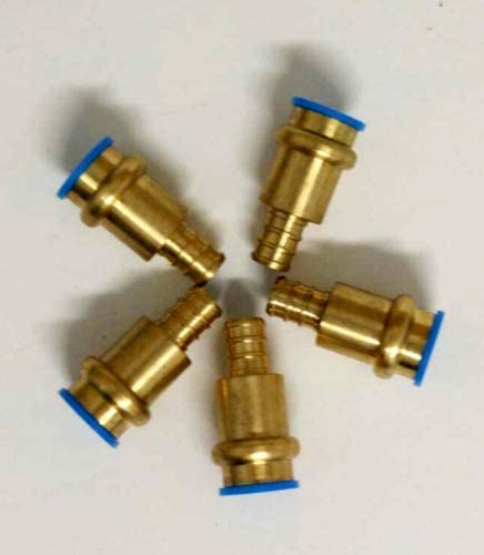 (Lot of 5) 3/4 ProPress x 3/4 Pex Adapter Coupling Press Brass x Clamp Pex