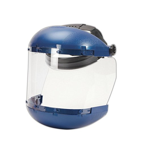 Sellstrom 38110 Complete Face Shield with Drop-Down Ratchet Headgear, 8x15.5, Clear, 6x19
