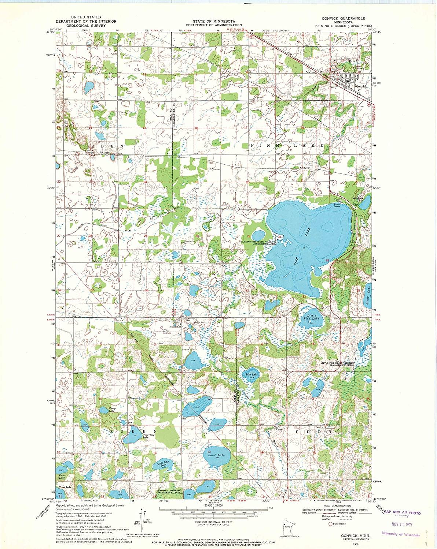 Map Print - Gonvick, Minnesota (1969), 1:24000 Scale - 24