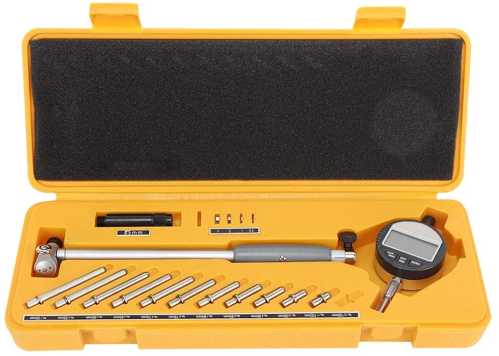 Dial Bore Gauge Set Deep Engine Cylinder Measurement Resolution Internal Measure Cylinder Tool With Durable Stainless Steel Electronic Digital Calipers