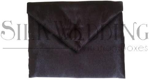 Stylish Black Silk Wedding Pouch with Silk Button Closure