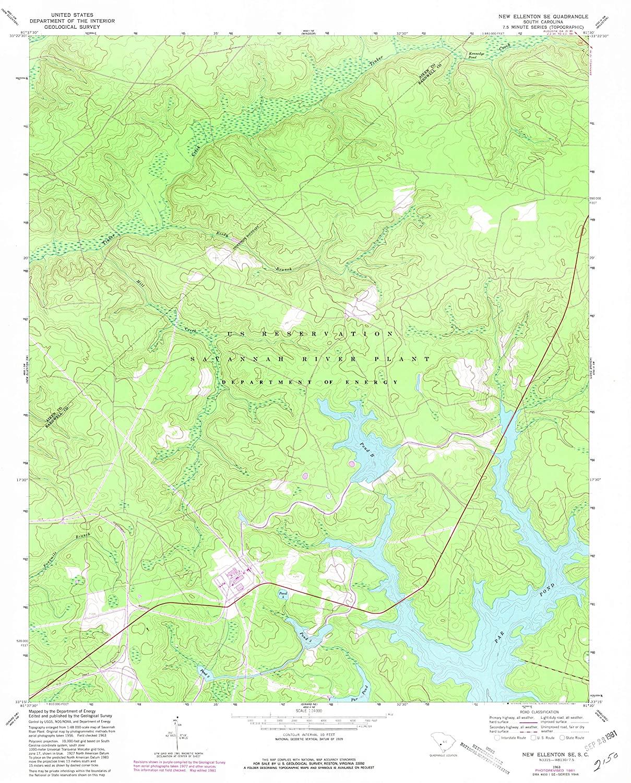 Map Print - New Ellenton SE, South Carolina (1963), 1:24000 Scale - 24