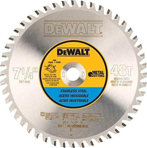 DEWALT DWA7748 48 Teeth Stainless Steel Metal Cutting 5/8-Inch Arbor, 7-1/4-Inch