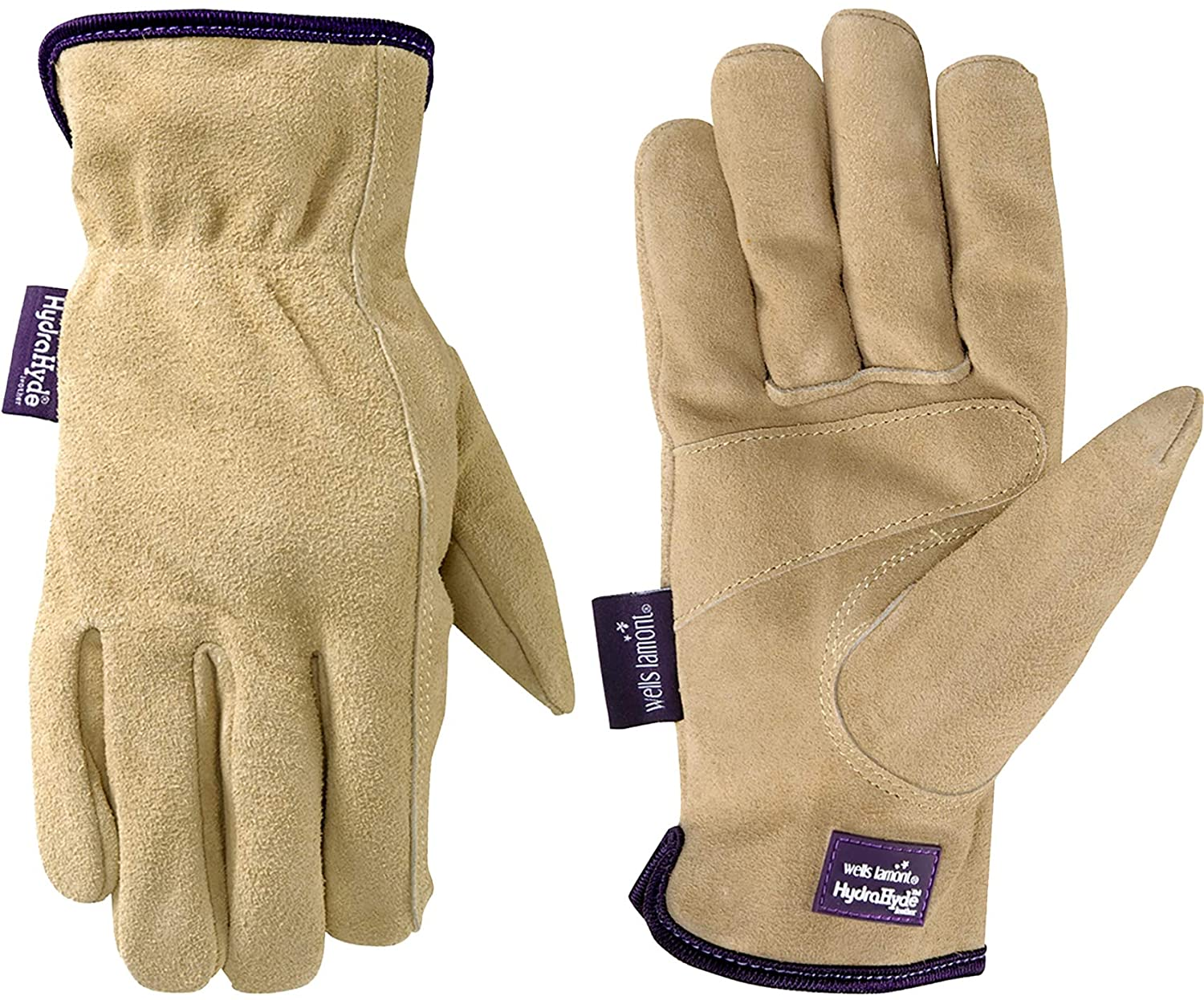 Women's Water-Resistant Leather Work Gardening Gloves (Wells Lamont 1003M), Medium