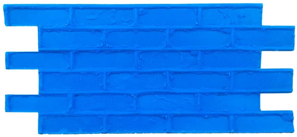 Standard Brick Vertical Concrete Stamps by Walttools for Walls, Fireplaces, Hardscapes, Seatwalls, etc. Sturdy Tools With Realistic Detail and Natural Texture (Single)