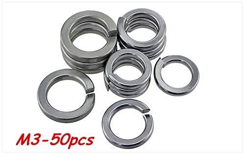 Ochoos 50pcs M3 304 Stainless Steel Spring Washer Shells Pad Elastic Gasket