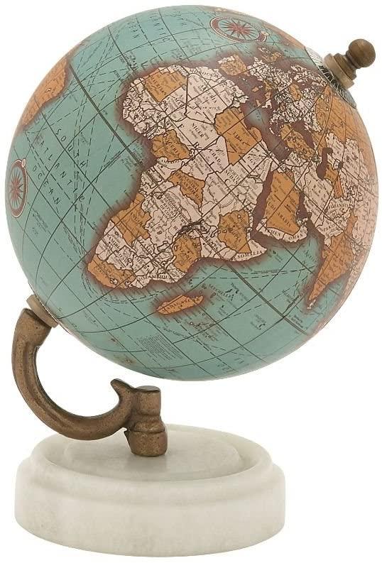 Deco 79 Wood Metal MBL Globe 5 W, 7 H-94444, 5 x 7