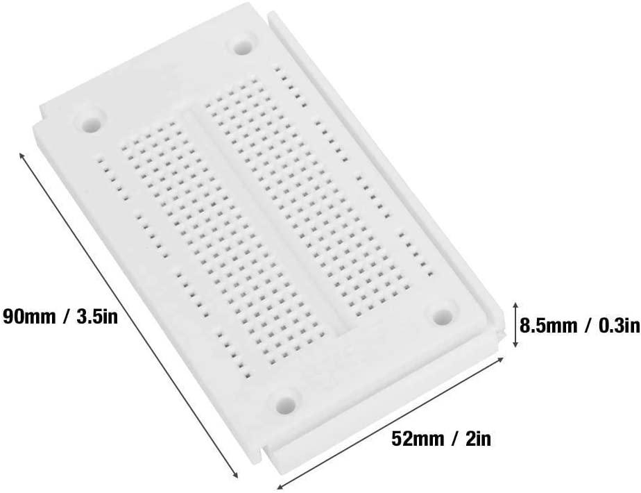 ICQUANZX 1PCS Reusable Breadboard Circuit Board SYB-46 270 Tie-Points Solderless Breadboard Circuit Testing Board 90×52×8.5mm/3.5×2×0.3in Jumper Wire Diameter 0.8mm