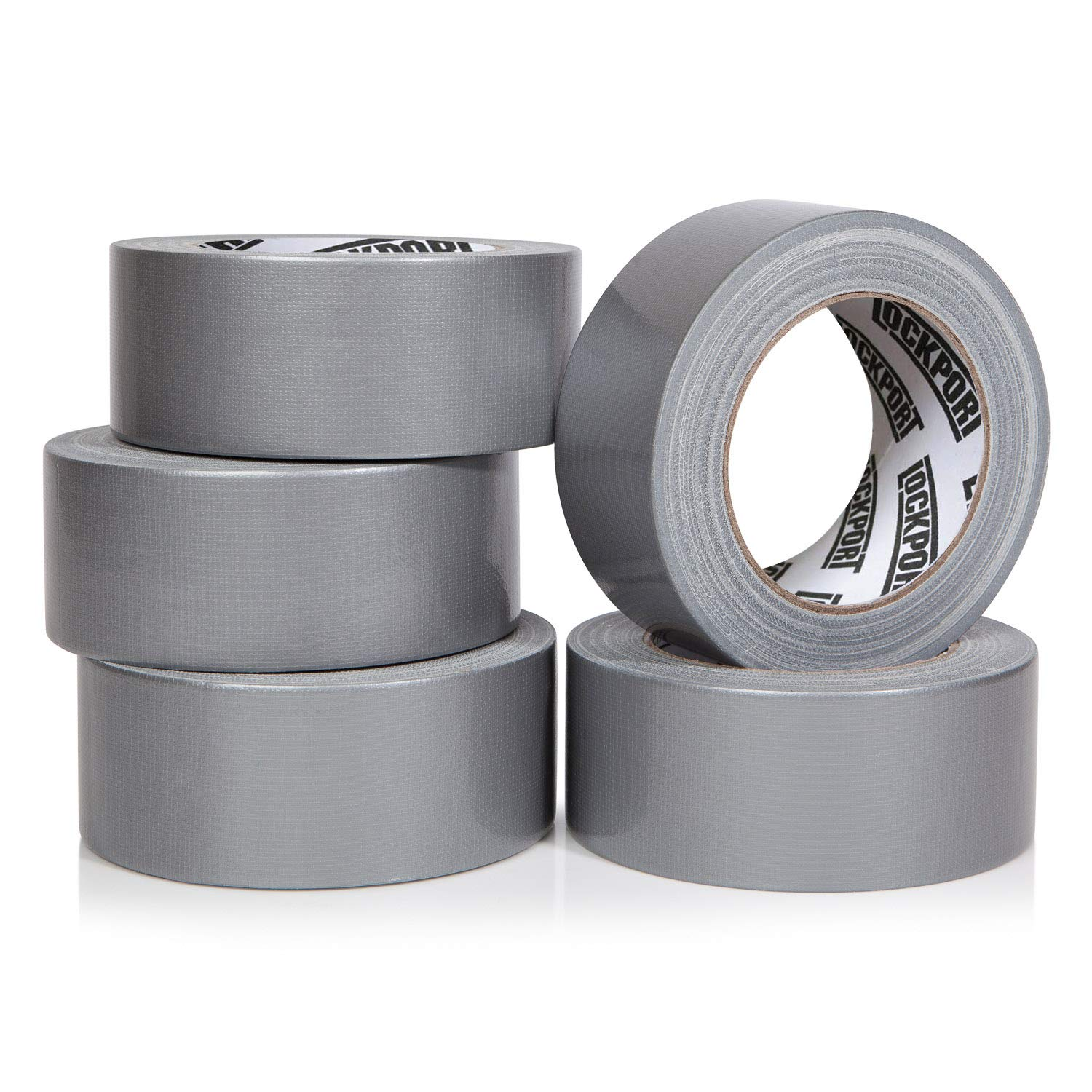 Heavy Duty Silver Duct Tape - 5 Roll Multi Pack Industrial Lot – 30 Yards x 2 inch Wide – Large Bulk Value Pack of Grey Original Extra Strength, No Residue, All Weather. Tear by Hand