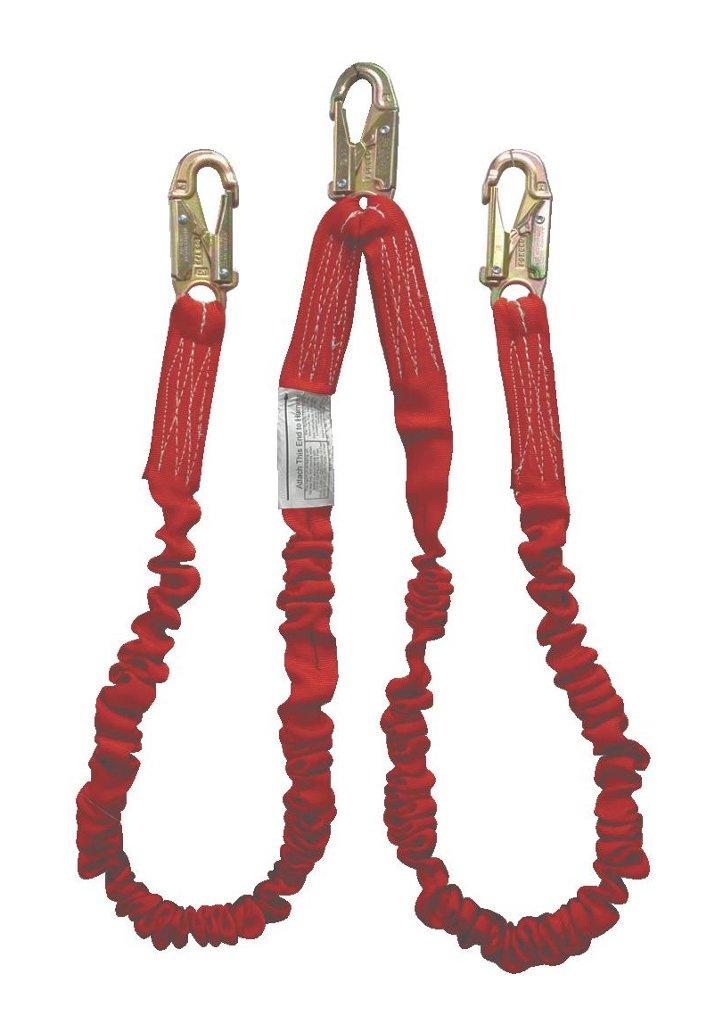 Elk River 01829 Flex-NoPac Energy-Absorbing 2 Leg Polyester Web Lanyard Retail Clamshell Packaging with Zsnaphooks, 3600 lbs Gate, 6' Length x 1-1/2