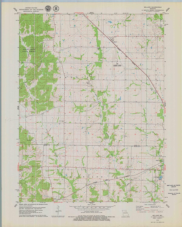 Map Print - Millard, Missouri (1979), 1:24000 Scale - 24