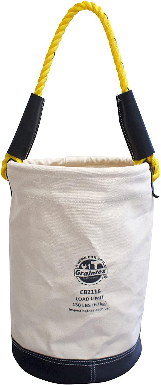 Graintex CB2116 Utility Canvas Bucket Leather Bottom