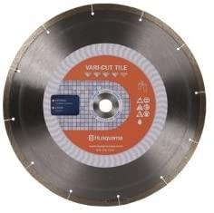 Husqvarna 542761458 Vari-Cut Porcelain Diamond Tile Blade, 4-1/2-Inch x .060-Inch