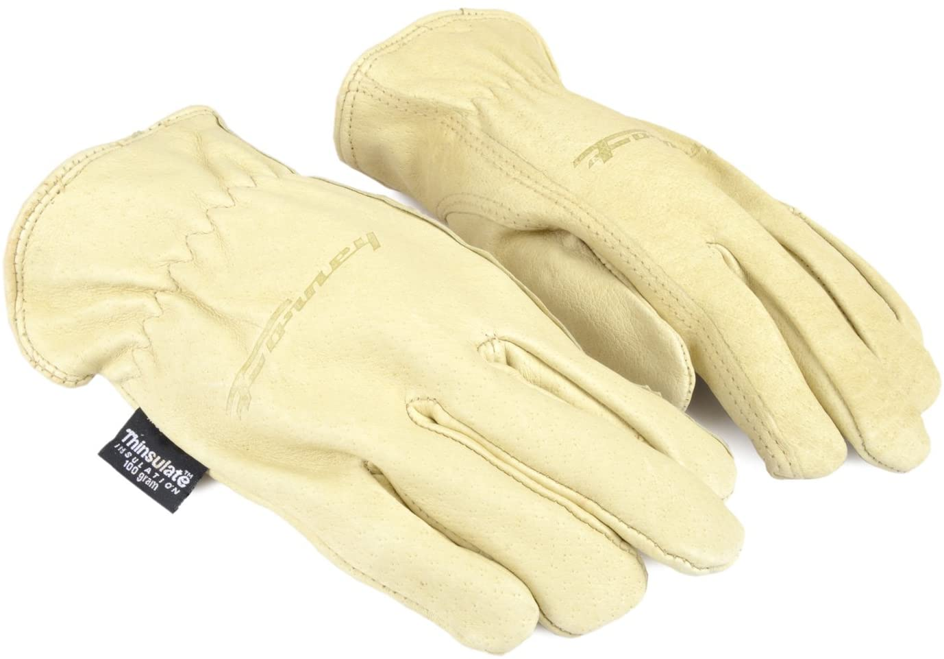 Forney 53166 Pigskin Leather Driver Premium Lined Women's Gloves, Chrome Tanned,Small
