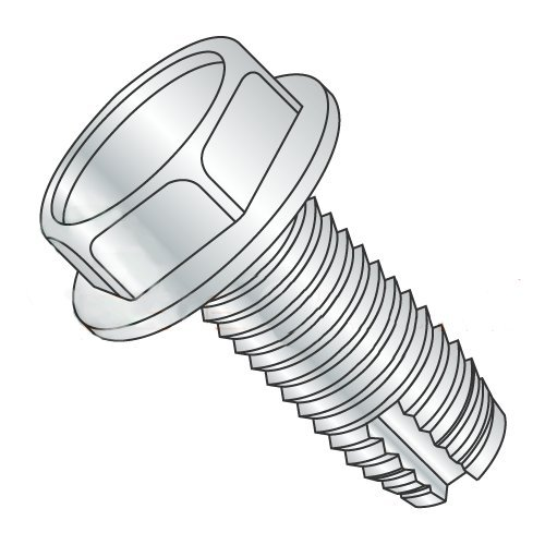 1/4-20 x 2 Type 1 Thread Cutting Screws/Unslotted/Hex Washer Head/Steel/Zinc (Carton: 900 pcs)
