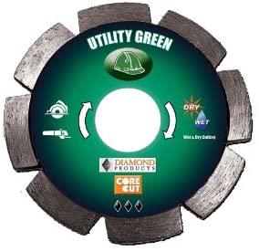 Diamond Products Core Cut Diamond Product 20207 Utility Green 2-in-1 Tuck Point Diamond Blade 4 1/2 x .250 x 7/8