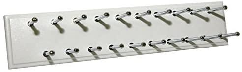 Easy Track Ra1200 Sliding Tie Rack, 20 Hook, White