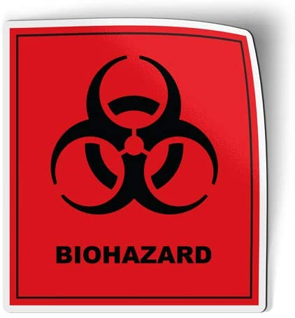Biohazard Sign - Flexible Magnet for Fridge, Locker - 6