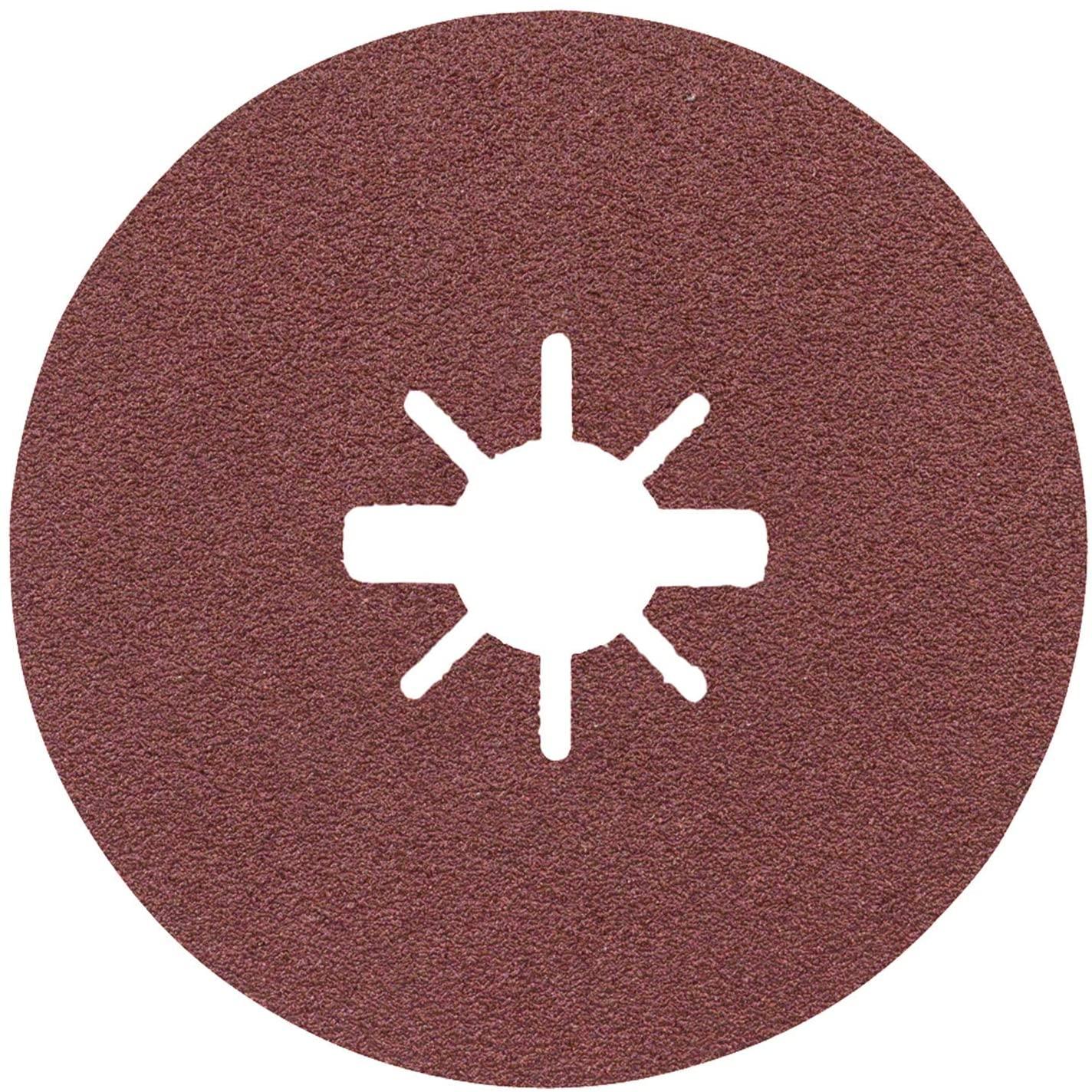 Bosch Professional Fibre Sanding Discs Expert (for Metal, X-LOCK, R444, Diameter 115 mm, Grit Size 60, Bore Diameter: 22.23 mm)