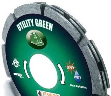 Diamond Products Core Cut 94184 4-1/2-Inch by 0.375 Utility Green 3 in 1 Tuck Point Blade