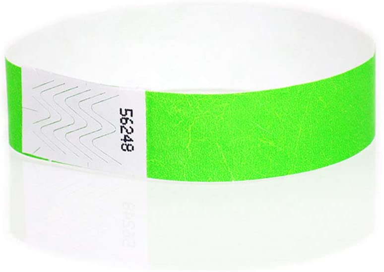 shop168 Wristbands Paper Neon Green for Party Catering Nightclubs Festivals School Camping Events Functions Social outings 3/4